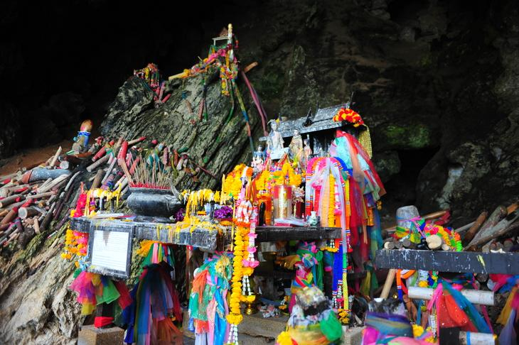 The Phallic Shrine and Phra Nang Beach — phalluses only accessible by boat (Krabi, Thailand) - Thailand -