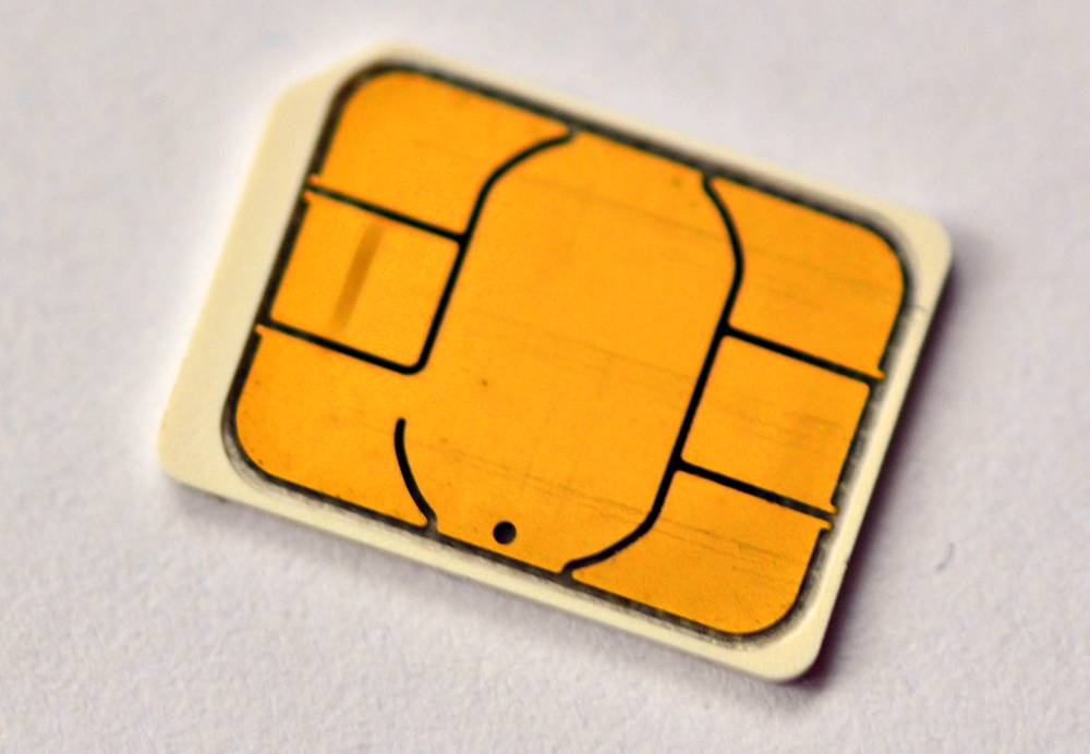 SIM card close-up